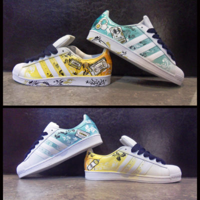 Customisation d'une paire de Adidas Superstar pour Adidas Originial Montreal