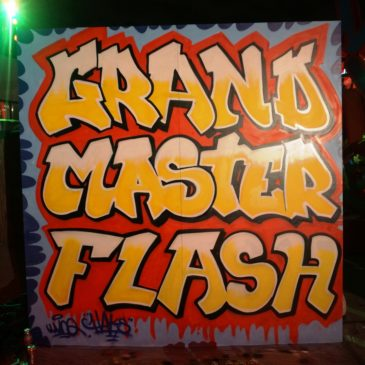 Live painting, concert Grandmaster Flash