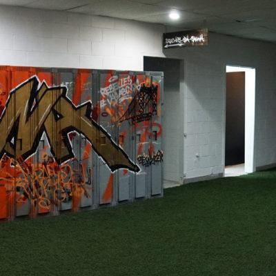 Décoration pour l'école de danses urbaines Rebelles et Vagabonds. Salle de sport