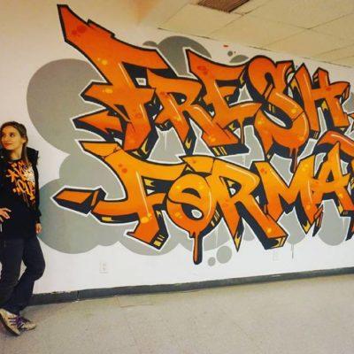 Décoration de la salle Fresh Format de l'école de danses urbaines