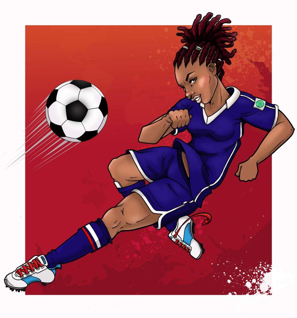 Design pour le groupe Les dégommeuses - Fifa 2019