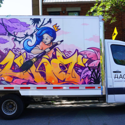Hachem art's truck that I did for Mural festival, part 2