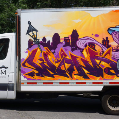 Hachem art's truck that I did for Mural festival, part 1
