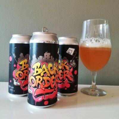Design pour la bière Back Order, en collaboration avec la Broueshop Brasserie Artisanale